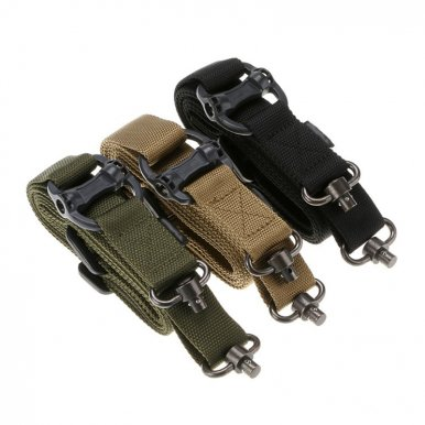 OneBling Tactical Sling Quick Adjustable Buckle Strap Safety Two Points Outdoor Belt QD Series