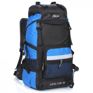 OneBling 45L Wear-Resistant Nylon Backpack Oversized Capacity Travelling Climbing Outdoor Luggage Bag Waterproof