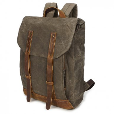 OneBling Wear-resistant Canvas Backpack Large Capacity Men Anti-theft Business Bag Fits 14  Laptop