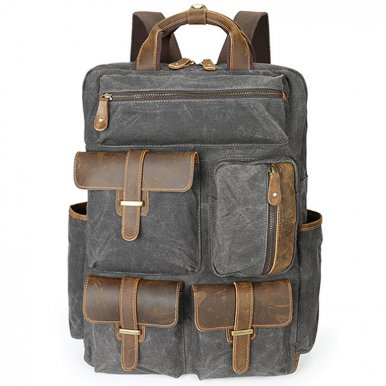 OneBling Anti-theft Large Capacity Men Canvas Backpack Business Laptop Bag