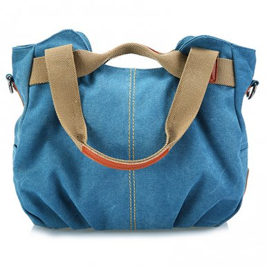 OneBling 2 Sizes Wear-Resistant Canvas Women Shoulder Bags