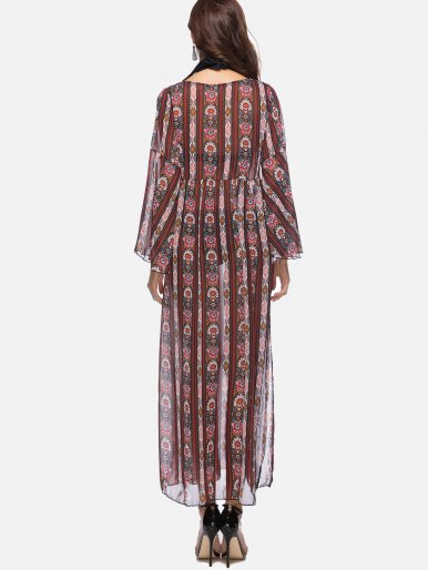 OneBling Print Loose Maxi Dress