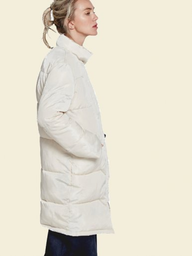 OneBling Long Padded Jacket with Contrast Liner