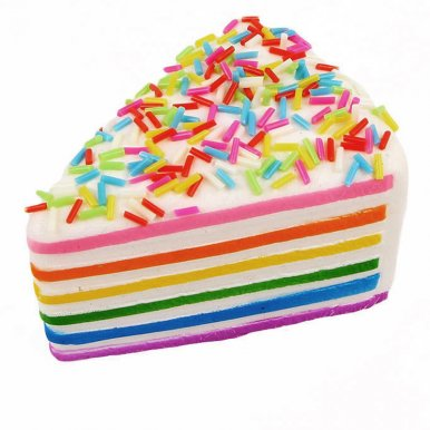 OneBling Squishy Jumbo Rainbow Cake Slow Rising Squeeze Toys Simulation Super Fun Decompression Toys