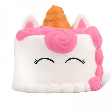 OneBling Cute Mini Eyes Shut Unicorn Cake Squishes Slow Rising Cream Scented Squeeze Toys Decorative Props