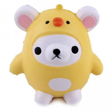 OneBling Squishy Bear Wearing Chicken Costume Kawaii Soft Cartoon Doll Toys Slow Rising Squeeze Toys