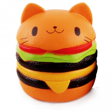 OneBling Jumbo Kawaii Cat Hamburger Soft Squishy Slow Rising Squeeze Toys Relieve Stress Decompression Toys