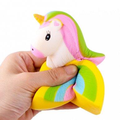 OneBling Simulation Super Rainbow Unicorn Soft Lovely Toys Squishies Slow Rising Decompression Toys Decor Props