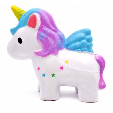 OneBling Starry Sky Unicorn Squishies Slow Rising Decompression Squeeze Toys for Kids or Stress Relief Toy Decorative Props