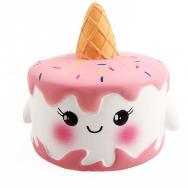 OneBling Cute Emoji Face Unicorn Cake Squishy Toys Soft Lovely Toys Slow Rising Squeeze Toys