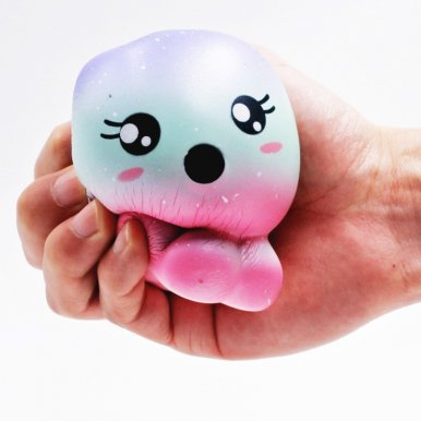 OneBling Squishies Starry Sky Jellyfish Slow Rising Squeeze Toys Stress Relief Toy Kids Lovely Toy