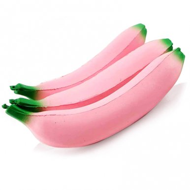 OneBling Jumbo Pink Banana Simulation Squeeze Toys Slow Rising Soft Decompression Toys Fun Lovely Toys