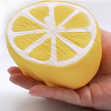 OneBling Lemon Squishy Slow Rising Squeeze Toys Stress Relief Toy Decorative Props