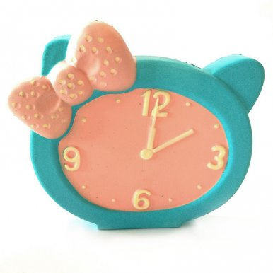 OneBling Cute Bowknot Clock Squishy Toys Slow Rising Decompression Squeeze Toys Decorative Props