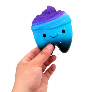 OneBling Squishy Slow Rising Squeeze Toys Starry Sky Tooth Cute Soft Stress Relief Toy