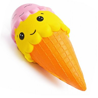 OneBling Three-Color Ice Cream Squishy Lovely Toy Stress Relief Soft Toy Slow Rising Squeeze Toy