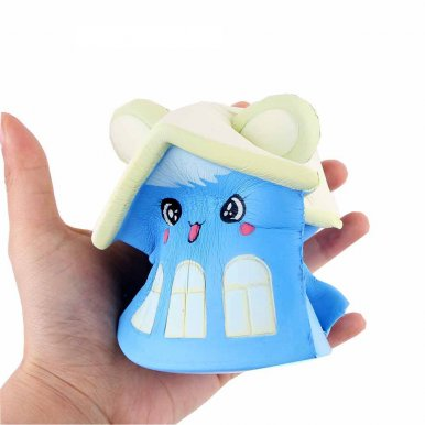 OneBling Emoji Face Bear House Cute Kawaii Squishy Toys Slow Rising Reliever Stress Squeeze Toys Decor Props