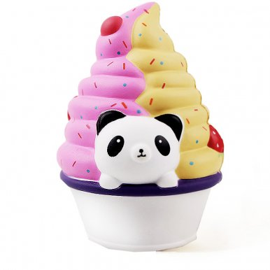 OneBling Panda Two Colour Ice Cream Slow Rising Squishies Toys Lovely Soft Decompression Squeeze Toys