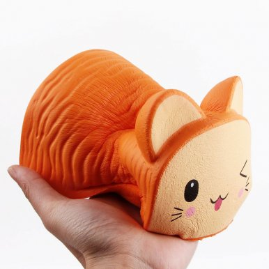 OneBling Jumbo Squishy Cat Toast Bread Slow Rising Squeeze Toys Soft Decompression Toys