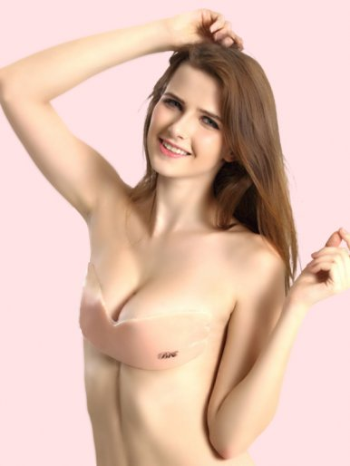 OneBling Backless Wing Shape Silicone Stick-On Bra