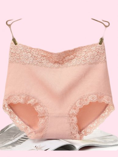 OneBling Lace Trim High Waist Panty