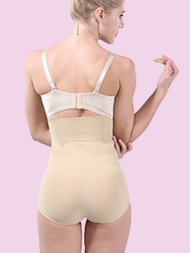 Steel Boned Waist Tummy Control Panty Butt Lifter Body Shapewear