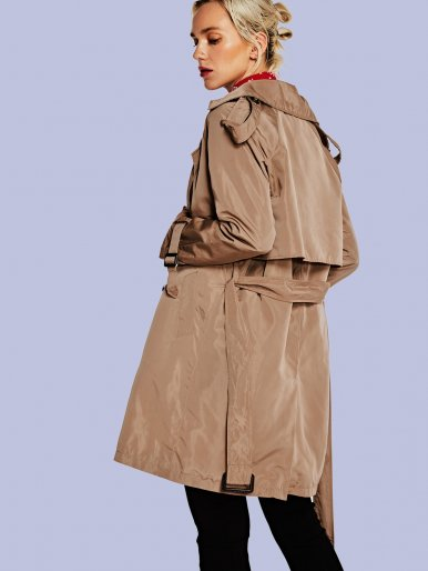 OneBling Structured Trench Coat with Belt