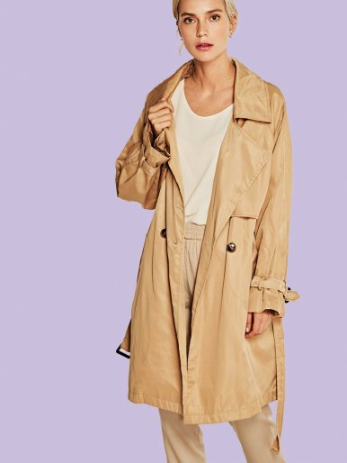 OneBling Classic Trench Coat with Belt