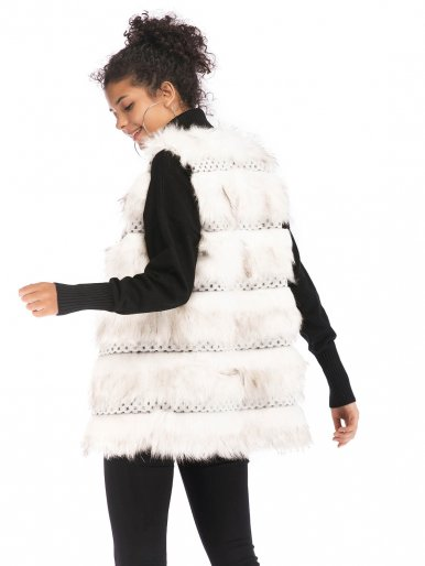 OneBling Cut and Sew Faux Fur Gilet