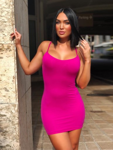 OneBling Bright Color Bodycon Cami Dress