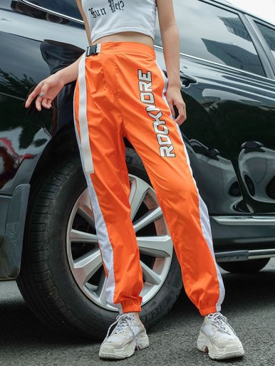 OneBling ROCK MORK Track Pant with Side Stripe and Buckle