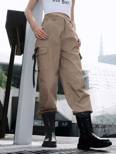 OneBling Cargo Pants with Pockets and Ribbon
