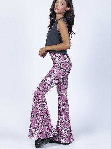 OneBling Flare Pants In Snake
