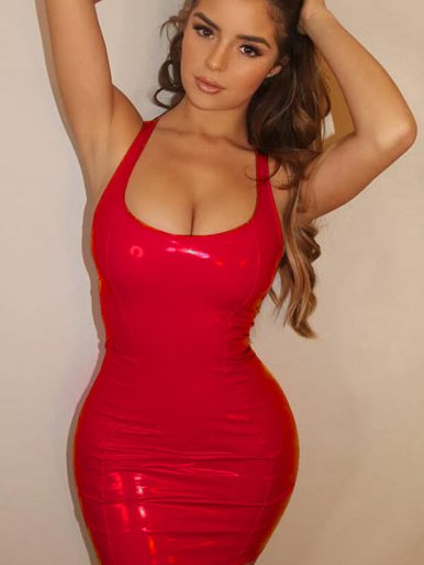 Sleeveless Bodycon PU Mini Dress