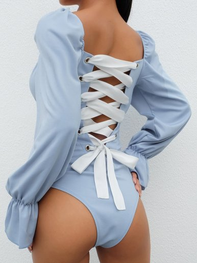 OneBling Strappy Back High Waist Bodysuit