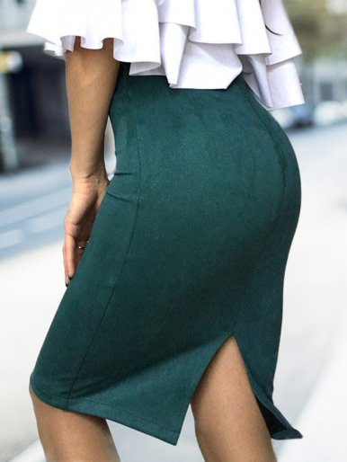 OneBling Thickened Pencil Skirt Bodycon Women Stretch Skirts