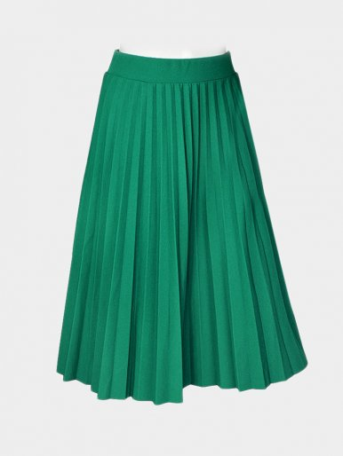 OneBling Elastic High Waist Pleated Midi Skirt