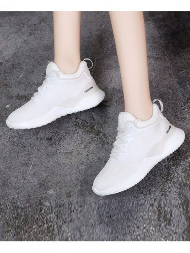 OneBling Fly Knit Breathable Spring Autumn Women Sneaker 2019 Lightweight Soft Lace Up Ladies Casual Flat Shoes Walking Outdoor