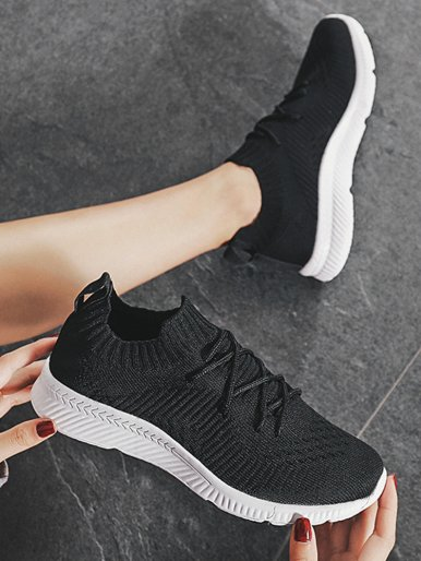 OneBling Men Women Breathable Knit Stretch Sock Shoes 2019 Unisex Trainers Flat Sport Walking Shoes Sneakers