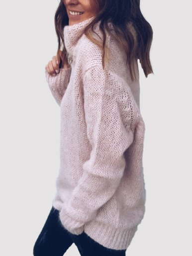 OneBling Red Warm Mohair Women Turtleneck Sweater 2019 Autumn Winter Christmas Jumper Casual Ladies Knitted Long Sleeve Pullover