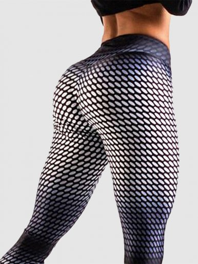 OneBling Fitness Leggings Women Pants Gym Sport Printing Trousers Push Up Elastic High Waist Ladies Legging