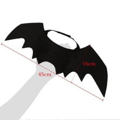 Pet Costumes Halloween Vampire Bat Wings Dress Up Cat and Dog