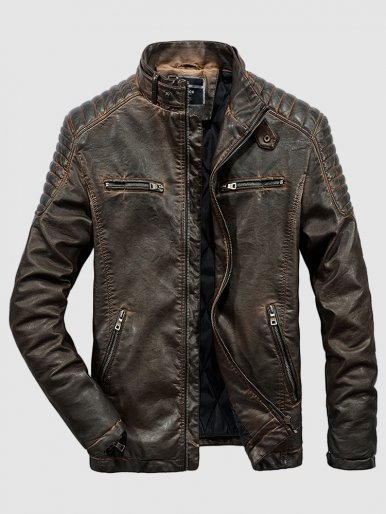 Men's PU Leather Motorcycle Jackets