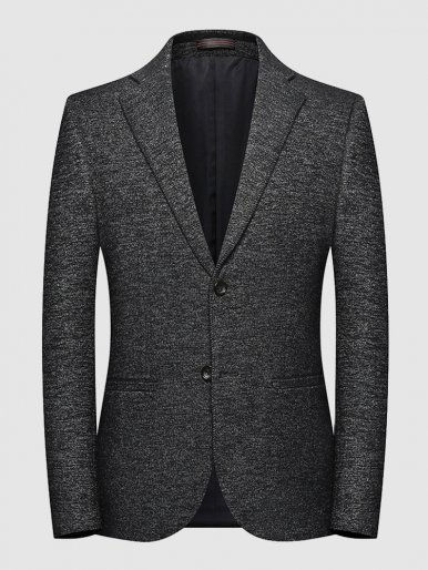 Stylish Men's Fitted Two Button Blazer Suit Jacket