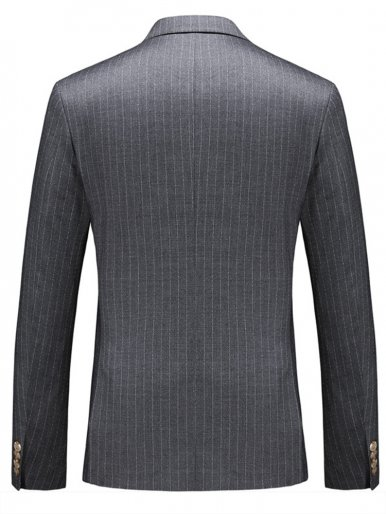 Men's Dashed Stripe Suit Jacket Grey Blazer