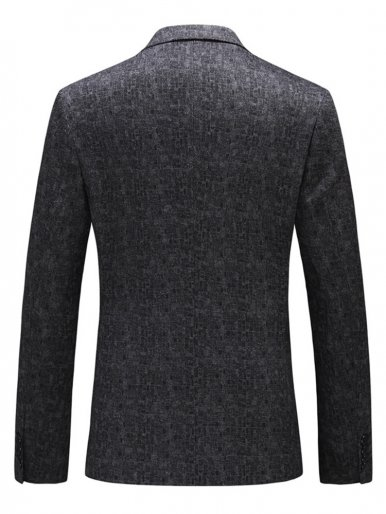 Jacquard Dark Grey Men's Business Blazer Suit Jacket