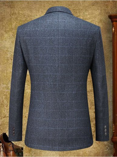 Gentleman Check Blazer Men's Suit Jacket