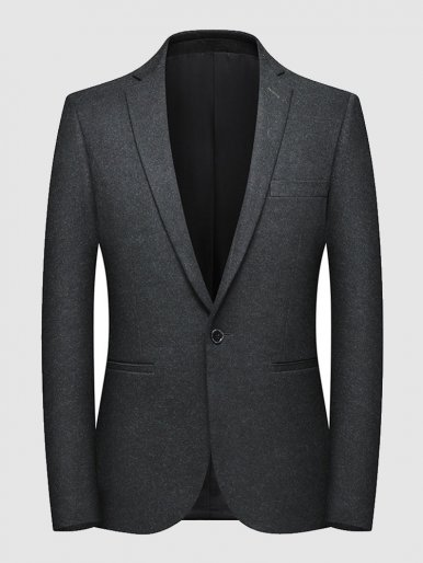 Men's Slim Fit Wool Mix Blazer Dinner Suit Jacket