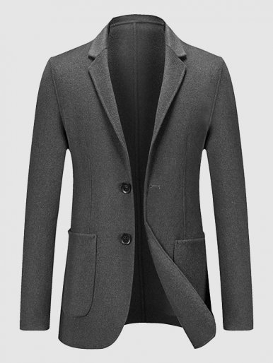 Double-sided Wool Blazer Men's Suit Jacket