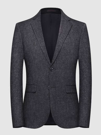 Men's Suit Jacket Texture Knit Blazer